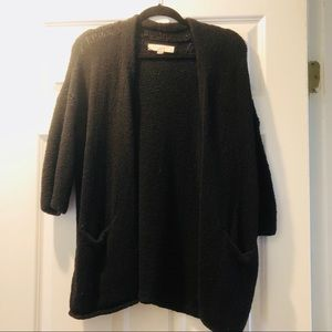 Loft black cotton sweater so comfy and cute